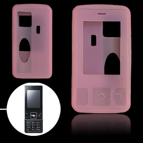 Pink Silicone Skin Mobile Phone Case for LG KC550