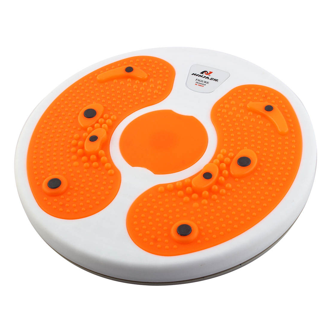 Foot Massage Magnetic Figure Twister Trimmer Waist Exercise Orange