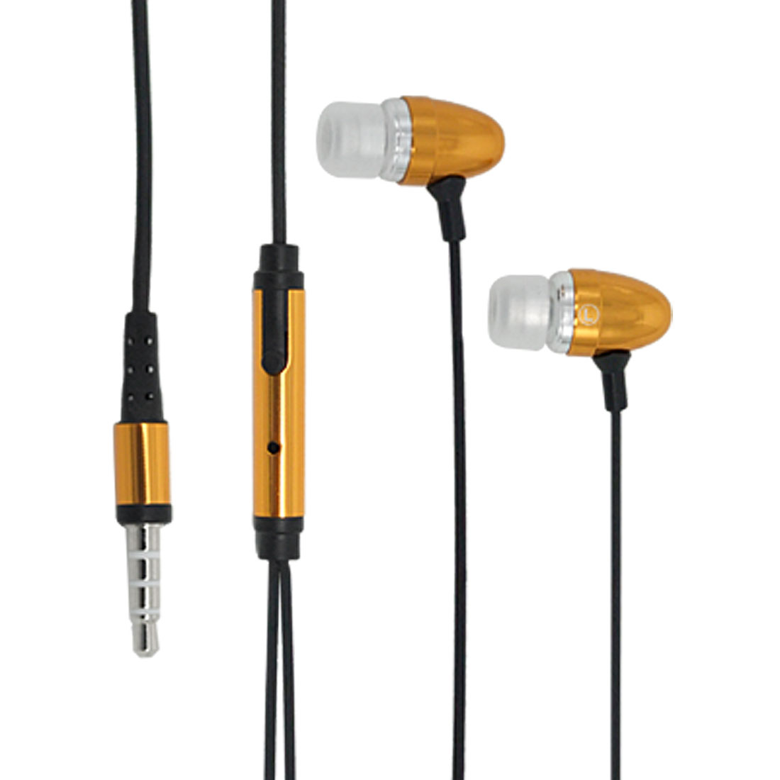 In-Ear Golden Earphone Microphone with Clip for iPhone 3G
