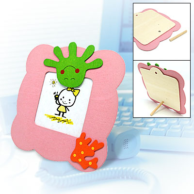 Cute Palm Slim Cartoon Pink Wooden Desk Picture Photo Frame
