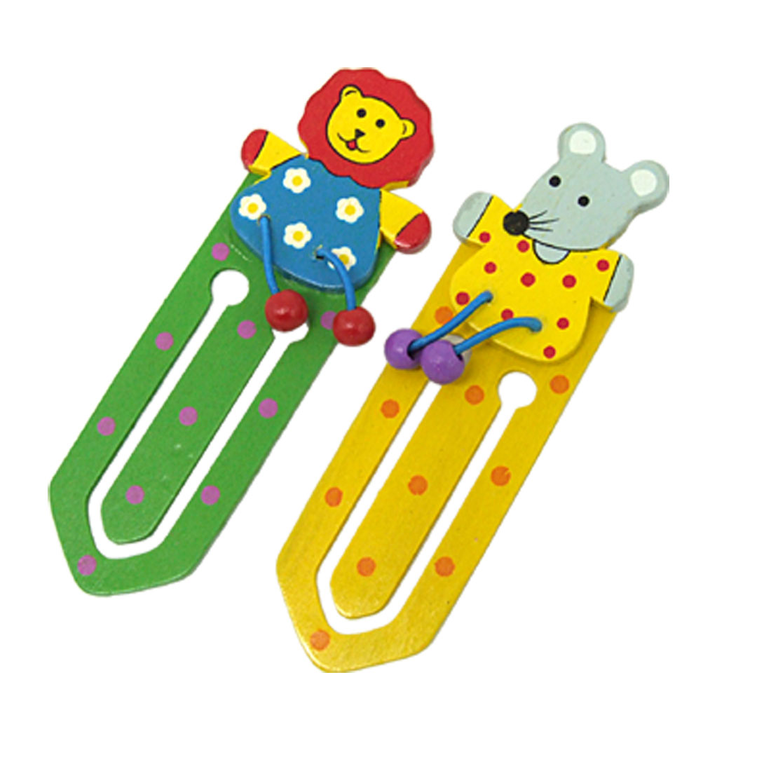 Like Real Mini Endearing Cartoon Animal Bookmark Paper Clip 2PCS