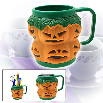 Halloween Pumpkin Children's Plastic Cup Mug