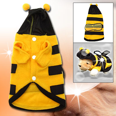 Hooded Puppy Dog Honey Bee Pet Costume for Small Dogs - Christmas Gift