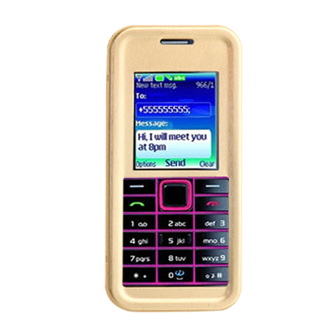 Golden Aluminum Case Cover for Nokia 3500 Classic