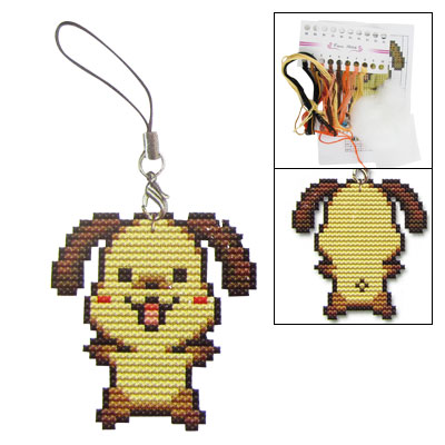 Counted Cross Stitch Cross-Stitch Kit Two Sided Cute Puppy Small