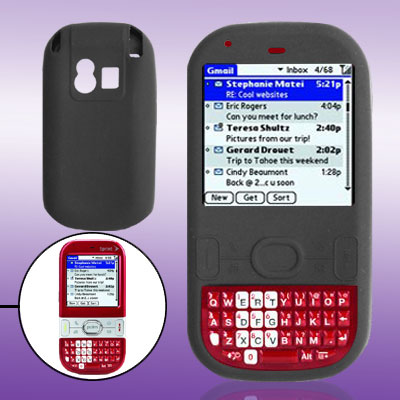 Protective Soft Silicone Skin Case Protector for Palm Centro 690 Black