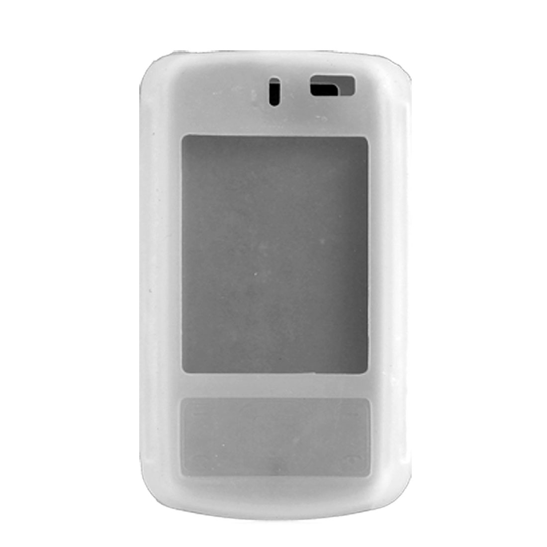 Clear White Silicone Case for Nokia 6600 Slide