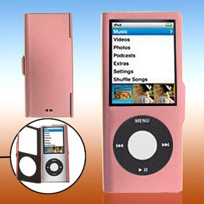Pink Put On Aluminum Case for iPod Nano Chromatic 4th Generation