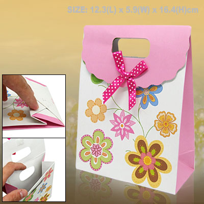 Flower Birthday Shower Paper Gift Bag Party Favor