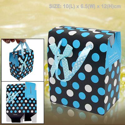 Small Paper Birthday Gift Party Favor Box with Dots Design