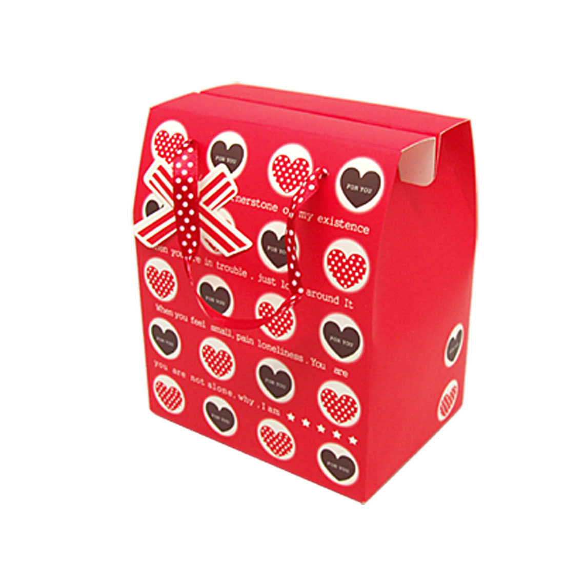 Red Paper Party Wedding Favor Gift Box with Heart Design