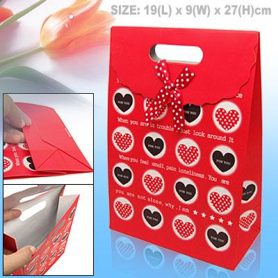 Sweet Heart Red Valentine Gift Wedding Favor Paper Bag