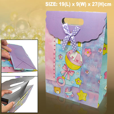 Cartoon Birthday Shower Paper Gift Bag Party Favor
