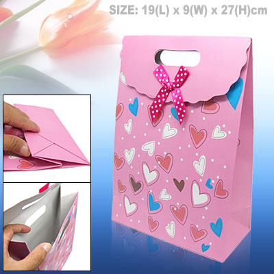 Heart Design Medium Valentine Gift Paper Bag Party Favor