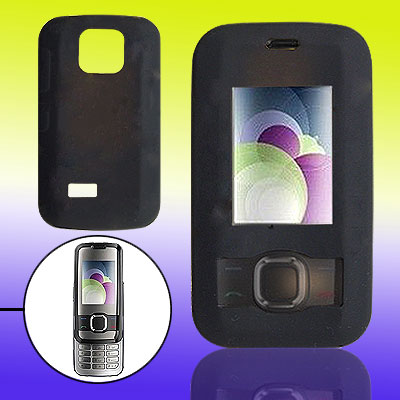 Black Slide Silicone Skin Cover Case for Nokia 7610