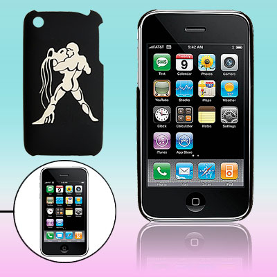 Sculptural Strong Man Pattern Hard Plastic Back Case for iPhone 3G / 3GS