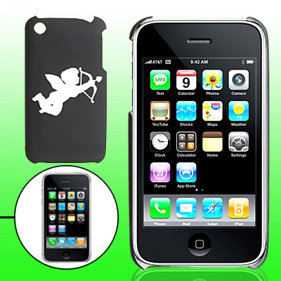 Hard Plastic Back Case with Sculptural Cupid Pattern for iPhone 3G / 3GS