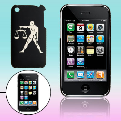 Hard Plastic Sculptural Man Pattern Back Case for iPhone 3G / 3GS