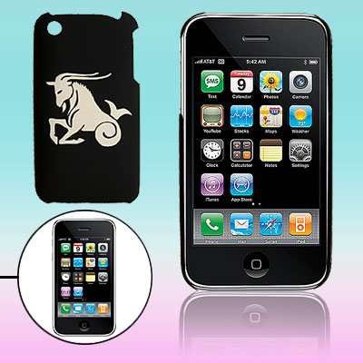 Hard Sculptural Goat Pattern Plastic Back Case for iPhone 3G / 3GS