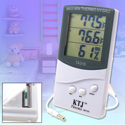 Portable Home Wall Desk LCD Indoor Outdoor Thermometer Hygrometer