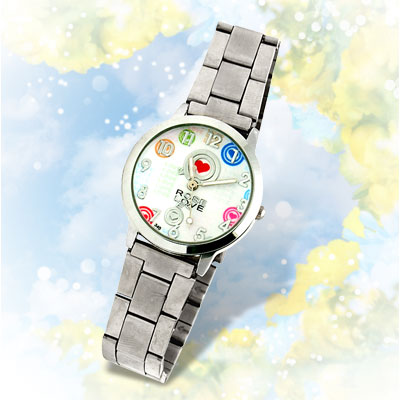 White Dial Man's Rose Love Steel Analog Watch