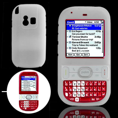 Clearwhite Soft Silicone Case for Palm Centro 690