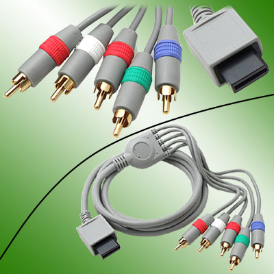 High Definition 480P Gold-plated AV Component Video Cable for Wii