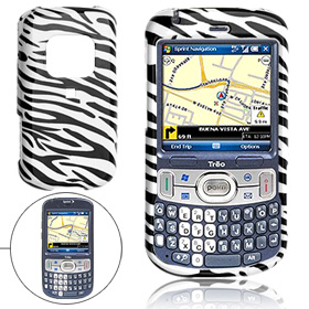 Hard Plastic Case with Zebra Stripe Pattern for Palm Treo 800W