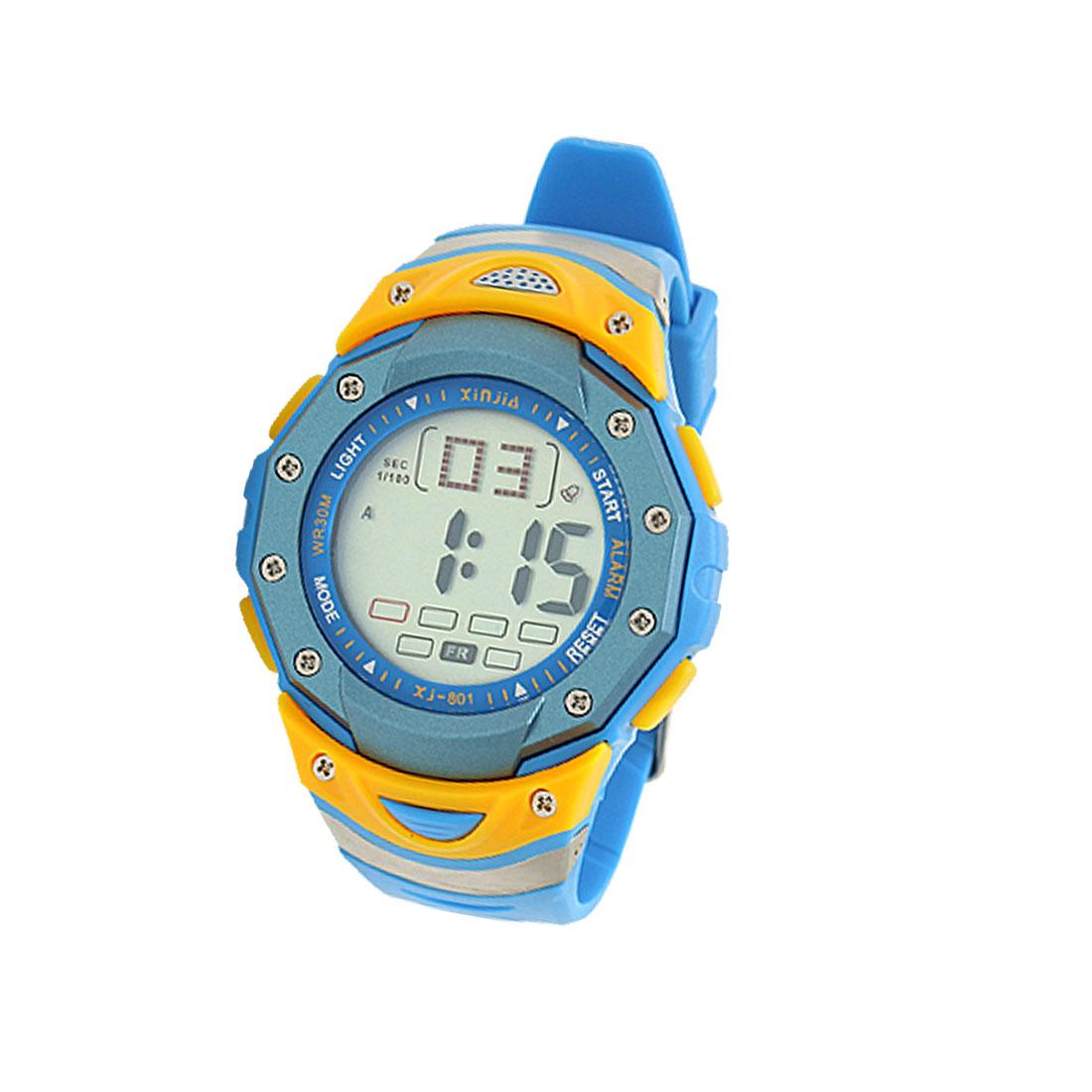Sky Blue Digital Multifunction Water Resistant Sports Watch