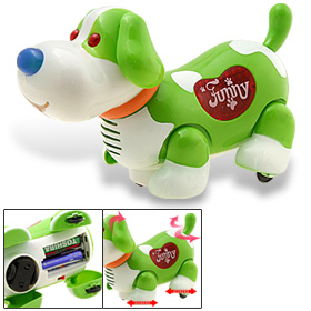 Happy Funny Singing Music Flash Bump & Go Dog Toys