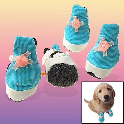 Protective Doggie Pet Paw Booties Pet Leather Shoes Boots