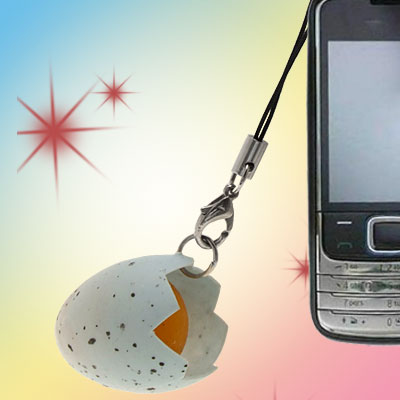 Small Egg Pendant Fashion Cell Phone Charm Strap