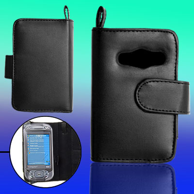 Leather Case Pouch with Strap Credit Card Holder for Dopod D9000