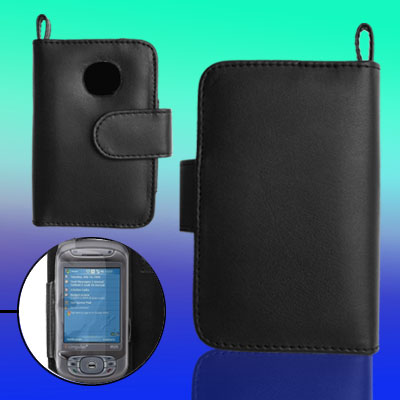 Magnetic Leather Case Pouch with Credit Card Holder for Dopod D9000
