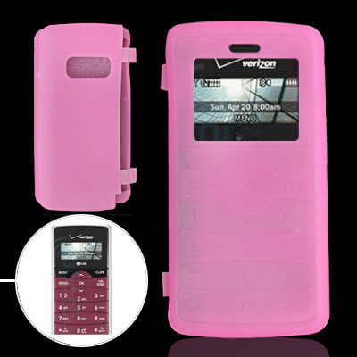 Silicone Skin Case Cover for LG VX9100 Pink