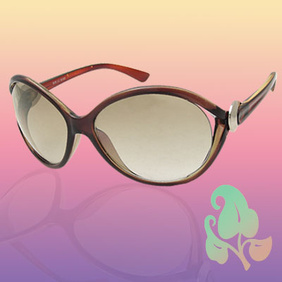 Super Big Oval Lens Fashion Plastic Frame Sunglasses for Lady