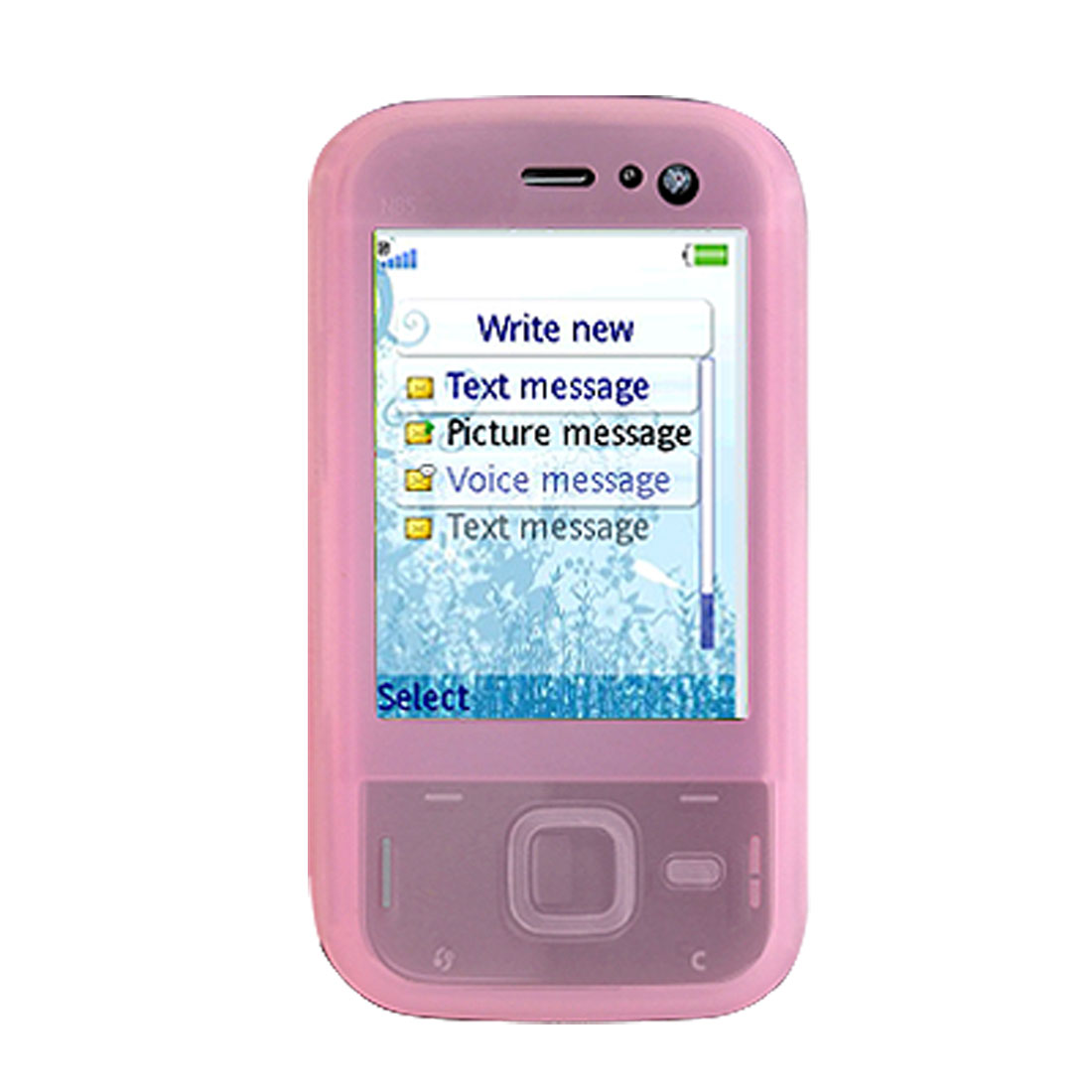 Elegant Soft Silicone Cover for Nokia N85 - Pink