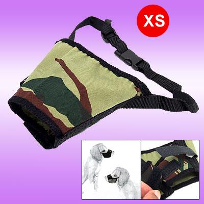 Army Camouflage Anti Bark Chew Bite Dog Muzzle - Size XS