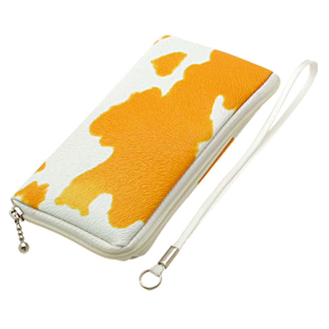 Orange Leather Case Pouch for Mp3 Cell Phone