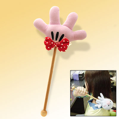Stylish Four Fingers Pink Soft Plush Massage Massaging Stick