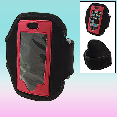 Neoprene Sports Armband Case Holder for black Red