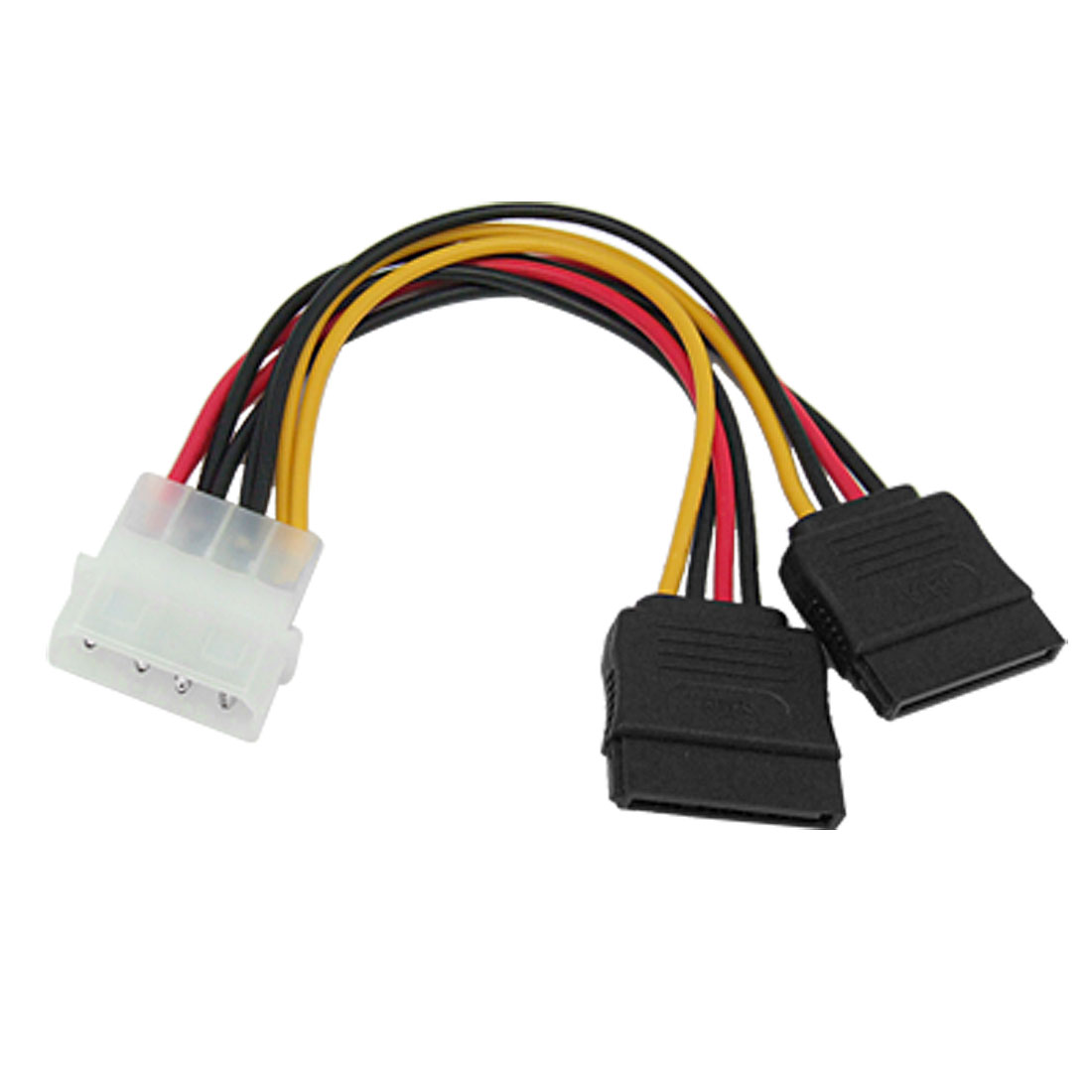 2 Port 15 Pin SATA Splitter Power Connector Cable