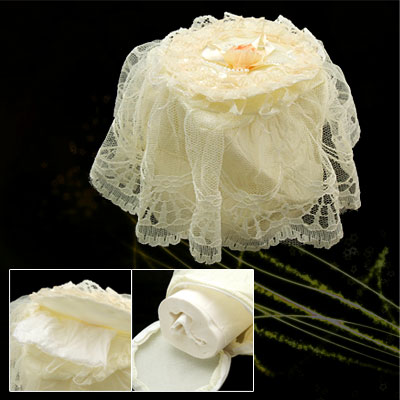 Luxury Round Lace Fabric Bedroom Tissue Box Case Cover