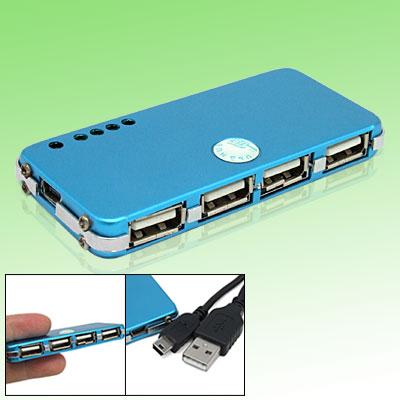 Computer PC Laptop 480Mbps USB 2.0 4-Port USB Hub