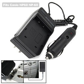 Digital Camera Battery Home Travel Car Charger for Casio NP60