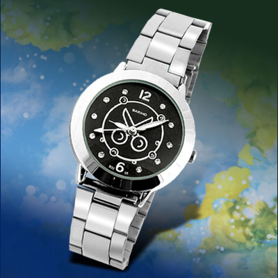 Men's Jewelry Dress Watch with Black Dial Scissors Pattern