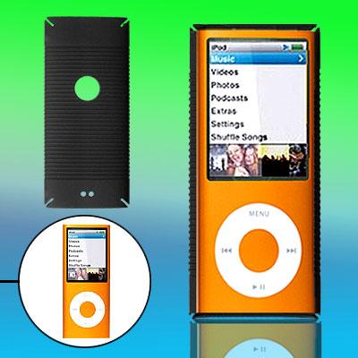 Black Anti-slip Hard Plastic Case for iPod Nano 4th Generation