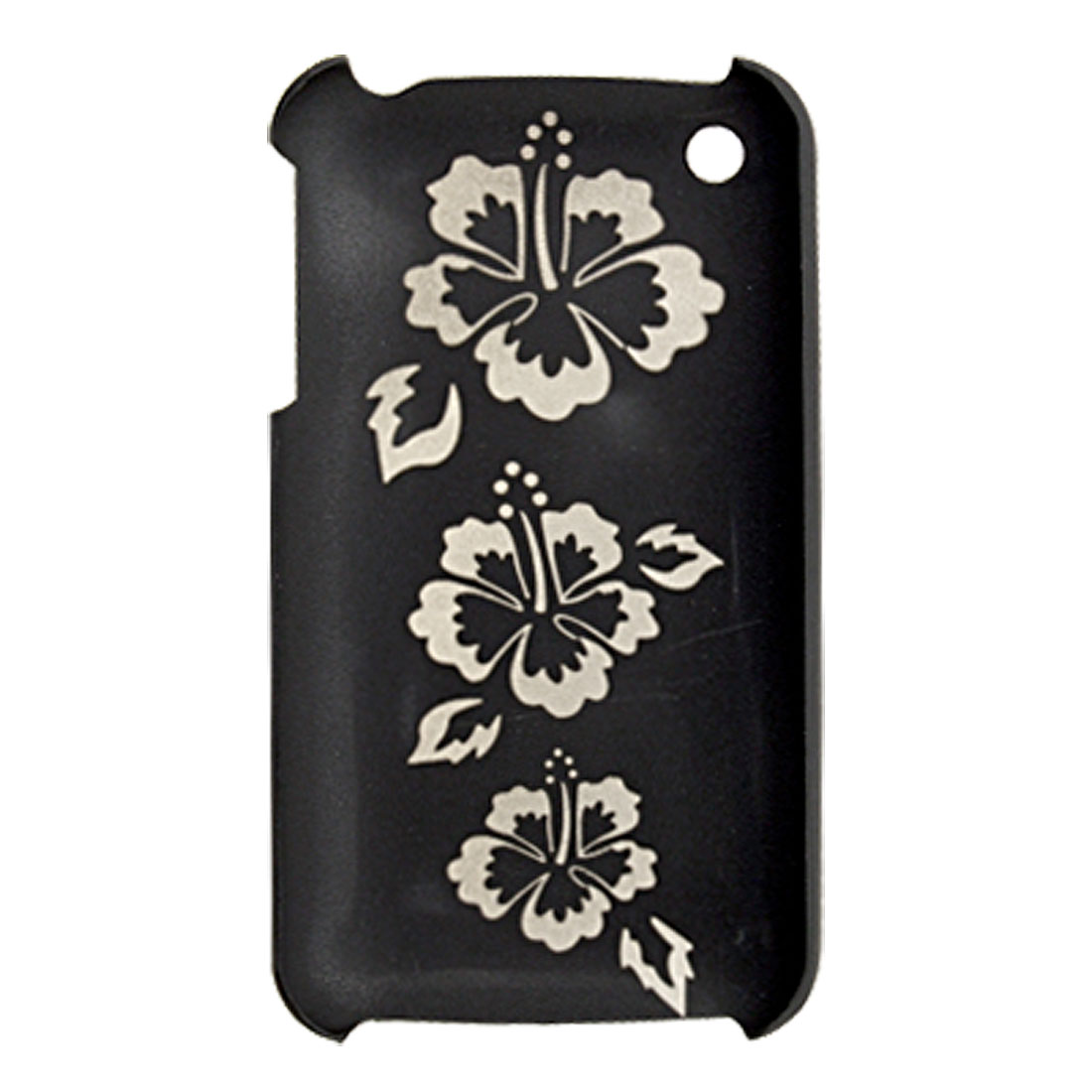 Unique Flower Pattern Hard Plastic Back Case for iPhone 3G / 3GS Black