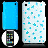 Blue Star Pattern Hard Back Plastic Case for iPhone 3G / 3GS