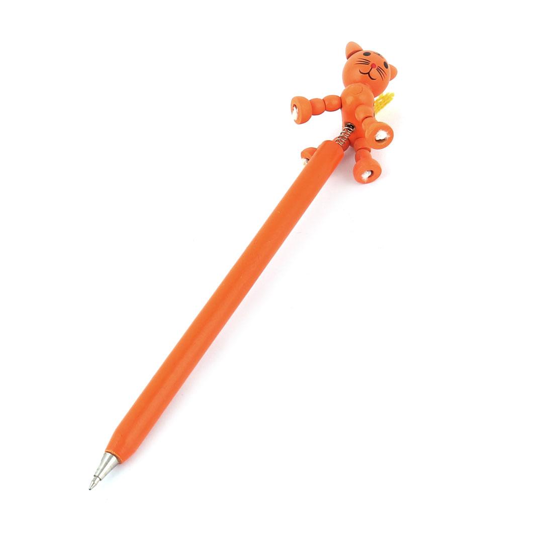 Orange Tiger Cartoon Decorative Wooden Ball Point Ballpoint
